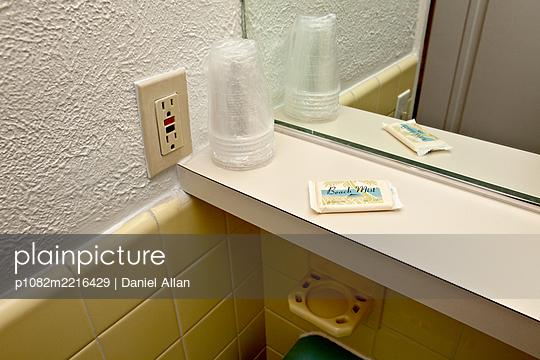 Bathroom in a Motel - p1082m2216429 by Daniel Allan