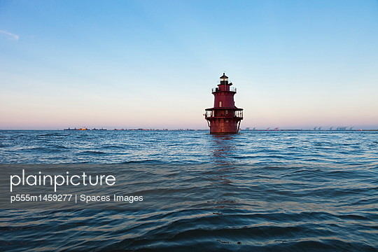 Lighthouse in ocean