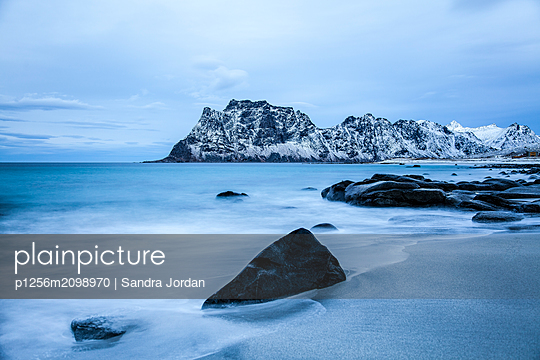 Seascape - p1256m2098970 by Sandra Jordan