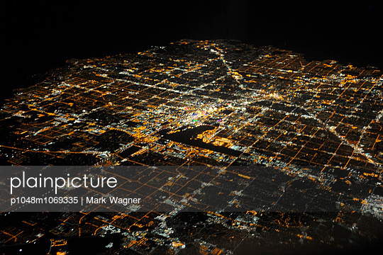 Vegas at night - p1048m1069335 by Mark Wagner