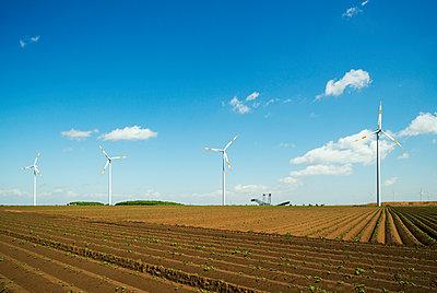 Brown coal and wind turbine - p1132m1039974 by Mischa Keijser