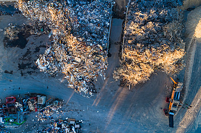 Aerial view of landfill site - p312m1521881 by Mikael Svensson