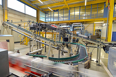 Production line with refined sugar in a factory - p300m978048f by lyzs