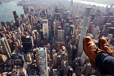 Hubschrauberflug über New York - p432m1172389 von mia takahara