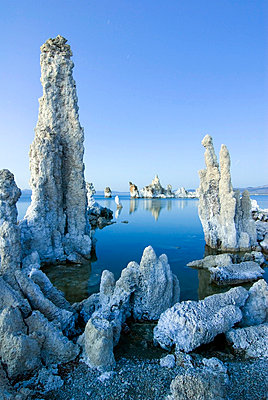 Interesting tufa formations at dusk in Mono Lake in the Eastern Sierra, California - p3437026f by Rachid Dahnoun