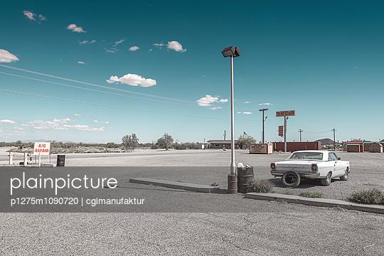 Parkplatz, Mojave-Wüste - p1275m1090720 von cgimanufaktur