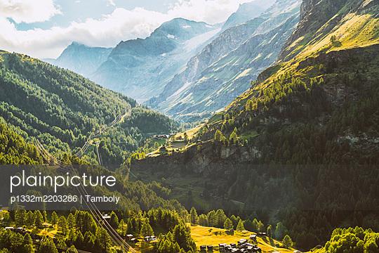 Switzerland, Valley between the Alps by Zermatt - p1332m2203286 by Tamboly