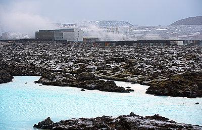 Power plant in arctic landscape - p555m1415726 by Pete Saloutos