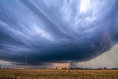 Rotating, tornado-warned storm develops pretty striations over Collyer, Kansas - p924m2018796 by Chris Kridler