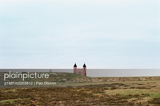 Castle in barren landscape - p1481m2203812 by Peo Olsson