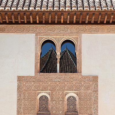 Palace of Ceremonial Rooms, facade, Alhambra, Granada, Spain - p1256m2177859 by Sandra Jordan