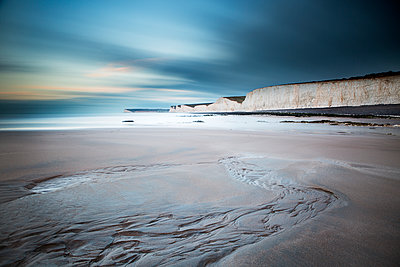 Steep Coast, Seven Sisters, Sussex, England - p1516m2158248 by Philip Bedford
