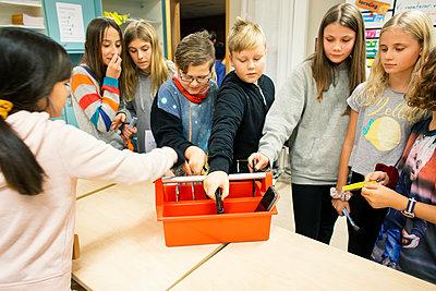 Children in classroom - p312m2174461 by Scandinav