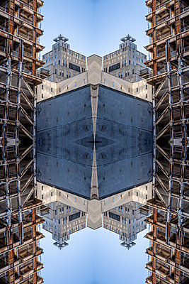Abstract Architectural Kaleidoscope Boston - p401m2284149 by Frank Baquet