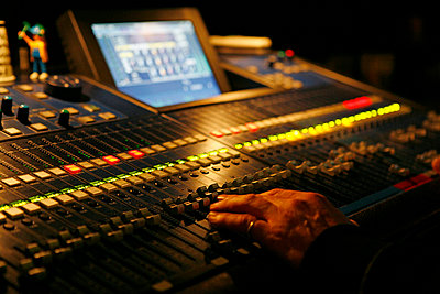 Mixing desk - p0760285 by Tim Hoppe