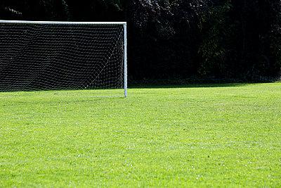 Soccer goal - p1057m934493 by Stephen Shepherd