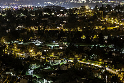 Night shot of Lyon - p910m2127875 by Philippe Lesprit
