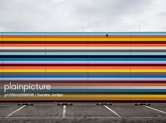 Striped Facade - p1256m2098938 by Sandra Jordan