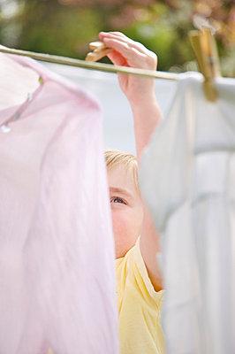Clothesline - p6690378 by Jutta Klee photography