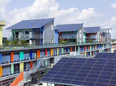 Solar village in Freiburg; Germany - p4020372 by Ramesh Amruth