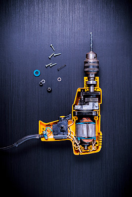 Disassembled drilling machine - p1149m2197059 by Yvonne Röder