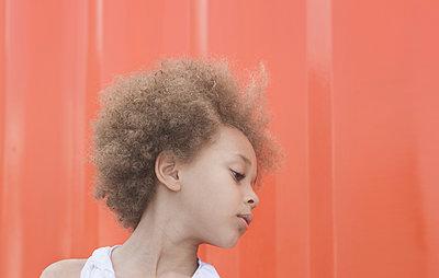 Orange Wall - p1323m1181950 by Sarah Toure