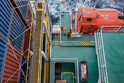 Frachtschiff - p915m2022179 von Michel Monteaux