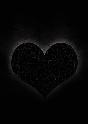 Black cracked heart - p1280m2077194 by Dave Wall