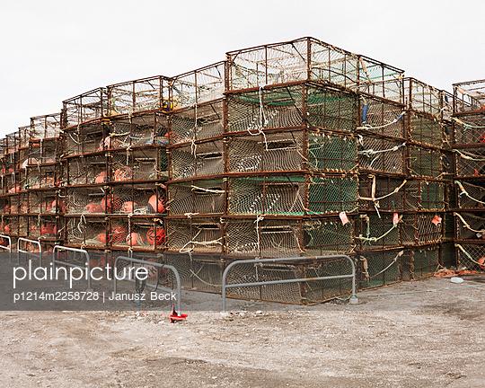 crab baskets - p1214m2258728 by Janusz Beck