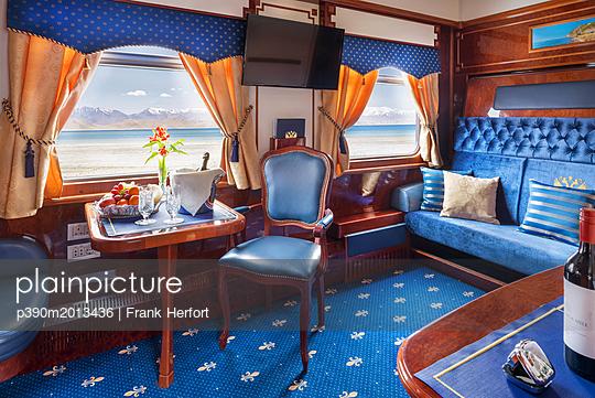 Trans Siberian Railway Express Train Interior - p390m2013436 by Frank Herfort