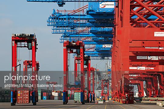 Containerterminal Hamburg - p1099m1515534 von Sabine Vielmo