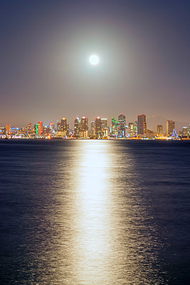 San Diego Harbor and Skyline - p1436m1492973 by Joseph S. Giacalone