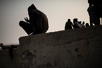 India, Dark silhouettes  - p1007m2099050 by Tilby Vattard