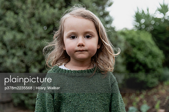 Portrait of young girl - p378m2235568 by Hilary Walker