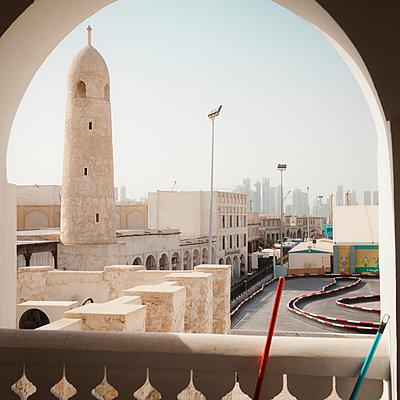 Mosque minaret in Doha - p1542m2196994 by Roger Grasas
