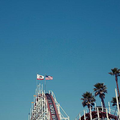Roller coaster - p495m831559 by Jeanene Scott