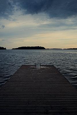 Bathing jetty - p470m2208738 by Ingrid Michel