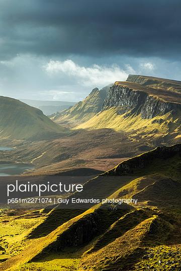 The Quiraing, Trotternish Peninsula, Isle of Skye, Scotland - p651m2271074 by Guy Edwardes photography