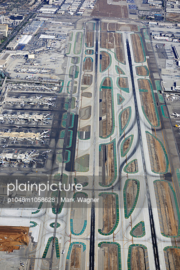 Airport runways & terminal - p1048m1058628 by Mark Wagner