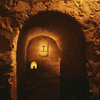 Ripon Cathedral - Anglo-Saxon crypt. Yorkshire, England. - p8551928 by Joe Cornish
