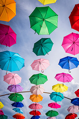 Colourful Umbrellas - p1170m1584931 by Bjanka Kadic