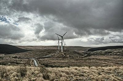 Windmill in Wales - p1072m830399 by Joe Eitzen