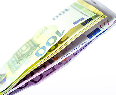 Euro banknotes - p401m2128649 by Frank Baquet