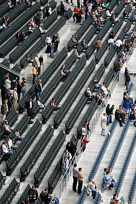 Audience in football stadium - p2280509 by photocake.de