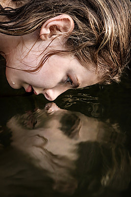 Teen Girl at the River - p1019m2107468 by Stephen Carroll