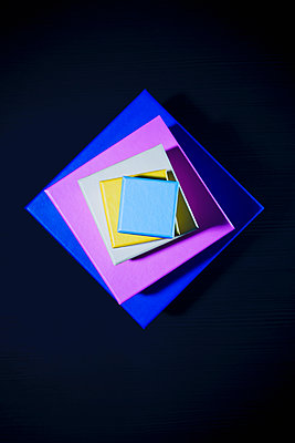 Coloured boxes - p1149m2021139 by Yvonne Röder