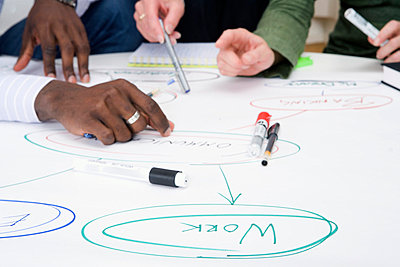 Brainstorming in an office Sweden. - p31218292f by Plattform