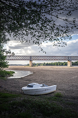 France, Boat on the beach - p1402m2191388 by Jerome Paressant