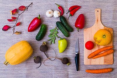 Assortment of fresh fruits and vegetables - p429m2019389 by Aleksander Rubtsov