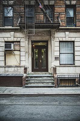 Apartment Building, West Village, Manhattan - p694m1129208 by Eric Schwortz